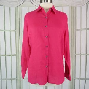Calvin Klein women's blouse pink button front
